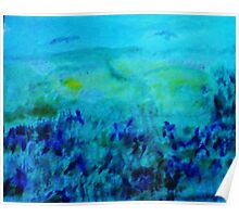 Meadow of Purple Iris ( Monet in my version), watercolor Poster