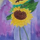 Sunflowers - Greeting Card by Rafia Shujaat