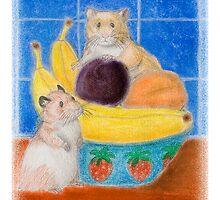 Hamsters in Fruit Bowl by jkartlife