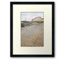 Beach Spiral Framed Print