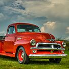 Orange '54 Chevrolet Pickup by HiDefRods