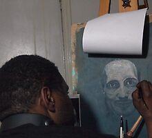 Portrait Study In Oils by Eddy Aigbe