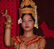 Cambodia. Siem Reap. Portrait of a Dancer. by vadim19