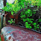 Old truck with tree by joevoz