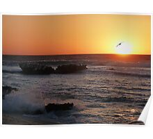Trigg Beach at Sunset, Western Australia Poster