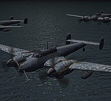 Messerschmitt Bf 110 Night Fighters by Walter Colvin