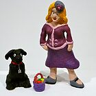 Gladys and Harry the dog by Anna Budden