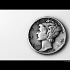 1945 United States Dime Coin by © Sophie W. Smith