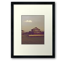 a little cloud in the sky Framed Print