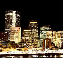 Night Shots Calgary Alberta Canada by pictureguy