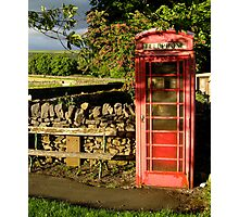 Village telephone box Photographic Print