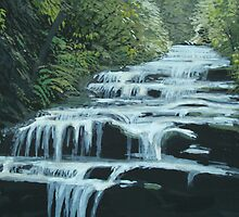 Leura Cascades, Blue Mountains by enumerart
