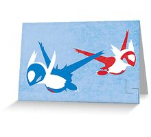 Latios & Latias Greeting Card