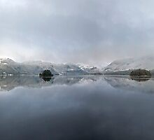 A winter wonderland over Derwentwater by Martin Lawrence