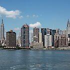 Empire State-Chrysler - New York City by Joel Raskin