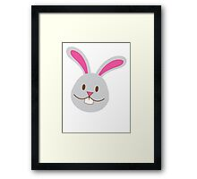 Easter bunny super cute Chibi Framed Print