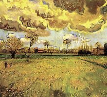 Landscape under a stormy sky. Vincent van Gogh.   by naturematters