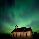 Country Church and Northern Lights by pictureguy