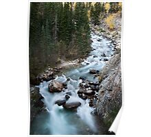 Athabasca River Rocky Mountains white water Canada Poster