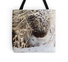 Porcupine in Winter Saskatchewan Canada snow and cold Tote Bag