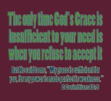 God's sufficient grace, 2cor 12:9 by dedmanshootn