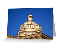Lincoln, Illinois - Courthouse Dome Greeting Card