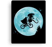 E.T. vs Aliens poster Canvas Print