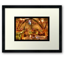 the cellar under the ice cream shop  Framed Print