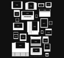 History of Video Game Cartridges 1977-2011 by Jarmez