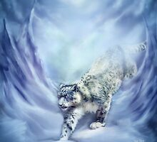 Snow Leopard - Snow Spirit by Carol  Cavalaris
