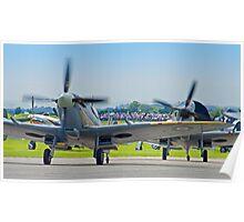 Duxford Spitfires !! Poster