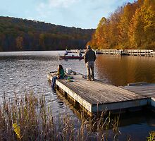 Sittin on the dock of the... lake by Jeanne Sheridan