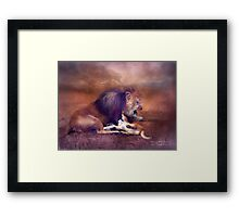 Playing With Dad Framed Print