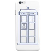 TARDIS minimal small version iPhone Case/Skin