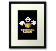 The Boos have the question box Framed Print