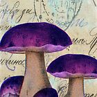Purple Mushrooms by Norella Angelique