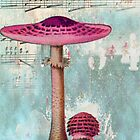 Pink Mushroom by CalicoCollage