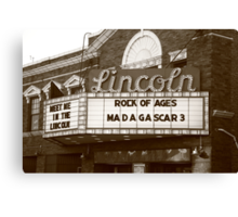 Route 66 - Lincoln Theater Canvas Print