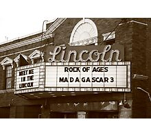 Route 66 - Lincoln Theater Photographic Print