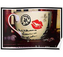 Rose Quartz And A Tea Cup Poster