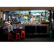 Pat Pong by night, solo bar Photographic Print