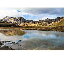 Reflections on Landmannalaugar Photographic Print