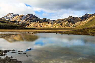 Reflections on Landmannalaugar by Peta Thames