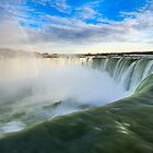 Rainbow Rises from Niagara Falls Waterfall by Silken Photography