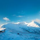 Moon over Helvellyn by Justin Foulkes