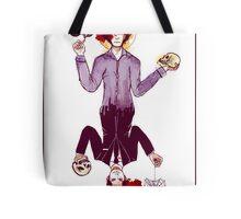 Sherlock and Moriarty Face Card Tote Bag