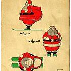 Santa Claus on Skis by Edward Fielding