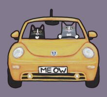 Cats in a Yellow Bug Kids Clothes