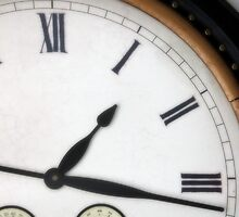 Vintage Roman Numeral Clock by Steve Case