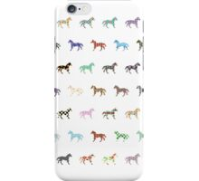 Colorful Horses Lantern Pattern  iPhone Case/Skin